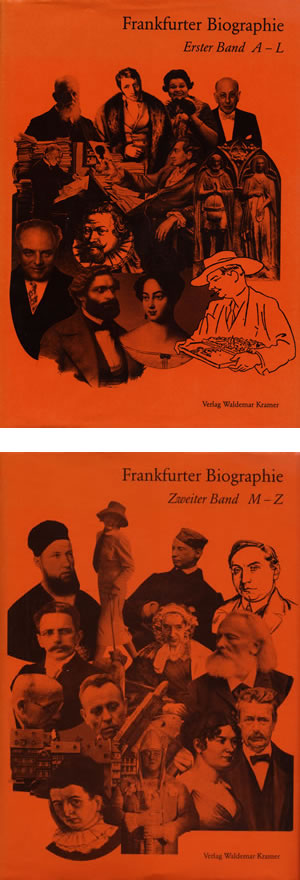 Cover Frankfurter Biographie, Band 1 und 2